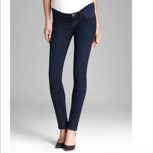 J Brand maternity pencil leg indigo skinny jeans